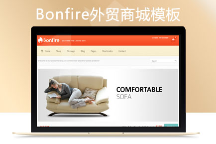 ECSHOP Bonfire外贸商城模板 英文模板